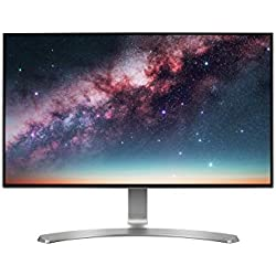 LG 24 inch Borderless Monitor - Full HD, IPS Panel with VGA, HDMI, Audio in/Out Ports and in-Built Speakers - 24MP88HV (Silver/White)