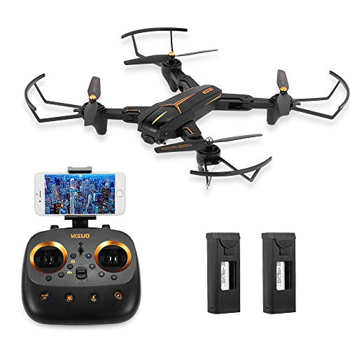 Goolsky VISUO XS812 2.4G GPS 5G WiFi 720P Telecamera grandangolare Pieghevole WiFi FPV Altitude Hold RC Drone w / 2 Batterie