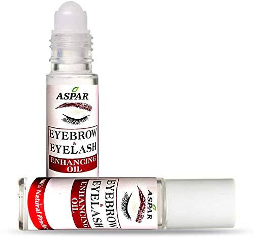 Aspar Eyebrow & Eyelash Hair Growth Oil Roll-on (8ml)