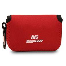 Megagear mg086 sony cyber-shot dsc-rx100 vi, dsc-rx100 v, dsc-rx100 iv, dsc-rx100 iii, dsc-rx100 ii estuche de cámara ultra ligero, de neopreno, con mosquetón - rojo.