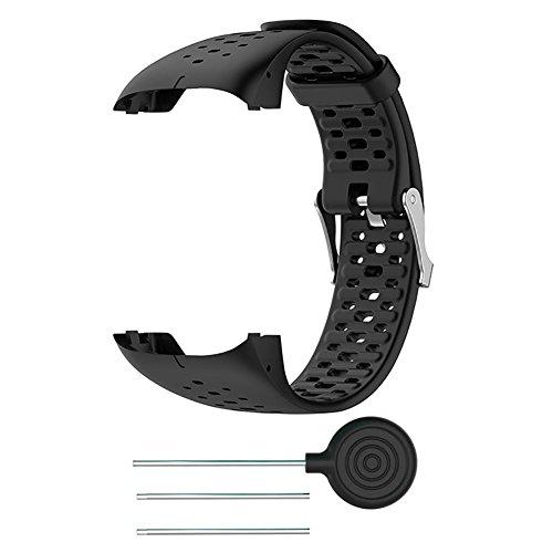 FOONEE fascia per Polar M400M430orologio in silicone, cinturino da polso Band sostituzione del cinturino per Polar M400M430GPS running Smart orologio sportivo cinturino da polso, Nero