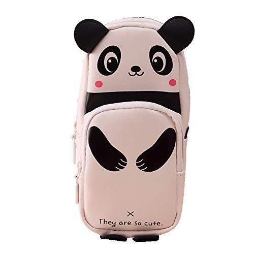 Mambain Astuccio Matite Kawaii Panda Astuccio Portapenne Scuola Grande Capacità 3D Pencil Case Con...