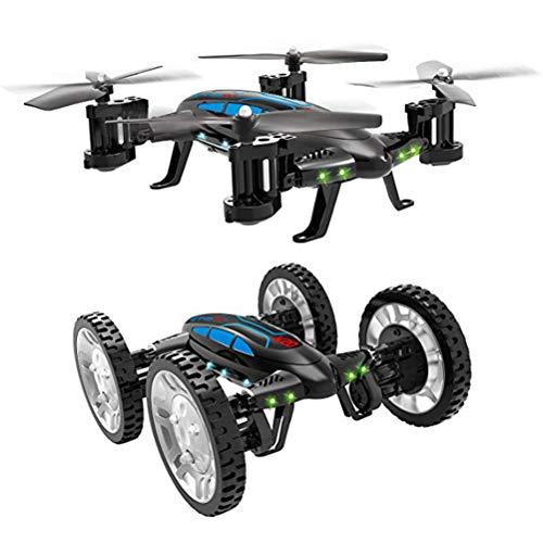 Mallalah RC Drone Voiture 2 en 1Quadricoptère Car Air-Road 2.4G Télécommandé 0.3 MP Caméra WiFi FPV Transmission en Temps Réel Volante Véhic... 22