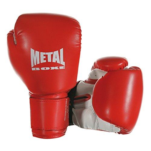 Metal Boxe - Guanti da Boxe, Rosso, 4 oz