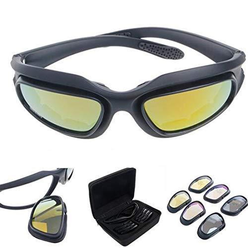 6e6daf7ead Polarizadas Lente Gafas Para El Sol de hípica con 4 lente de conducción  para Motocicleta Bicicleta