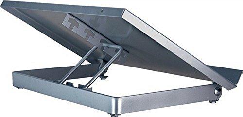 Konzepthalter B375xT240xH60mm silber verstellbarer Sichtabstand