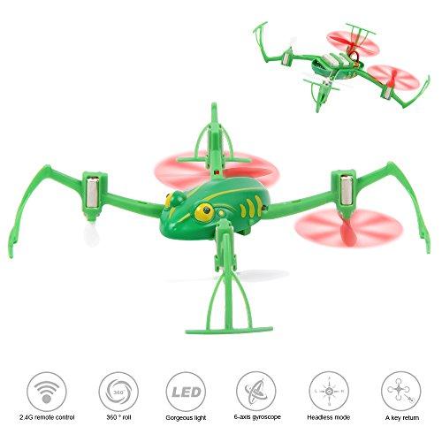 LiDiRC NH-007 2.4GHz con modalità senza testa e un tasto di ritorno Frog RC Quadcopter