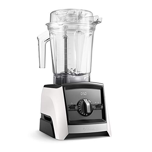 Vitamix 2500i WH Ascent A2500i Smart Power Blender, Boccale da 2 Litri, Bianco, Acciaio Inossidabile