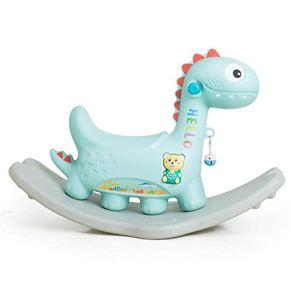 LIULAOHAN Caballo de oscilación del bebé, Trojan para niños Caballo Mecedora Juguete para bebés Espesar Silla Mecedora…