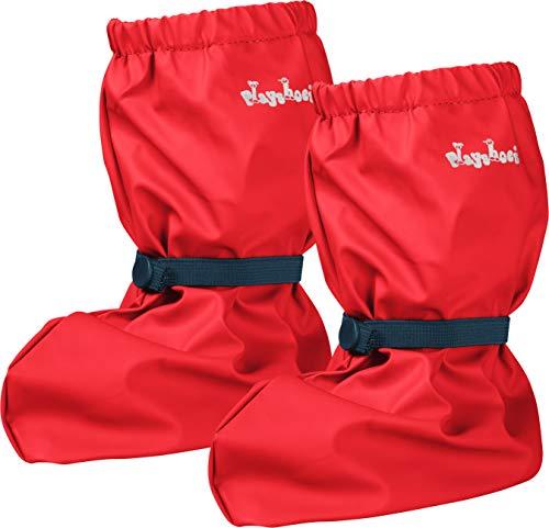 Playshoes 408910, Copriscarpe Da Pioggia Unisex Bambino, Rosso (Rot/Rot), M (20 EU)
