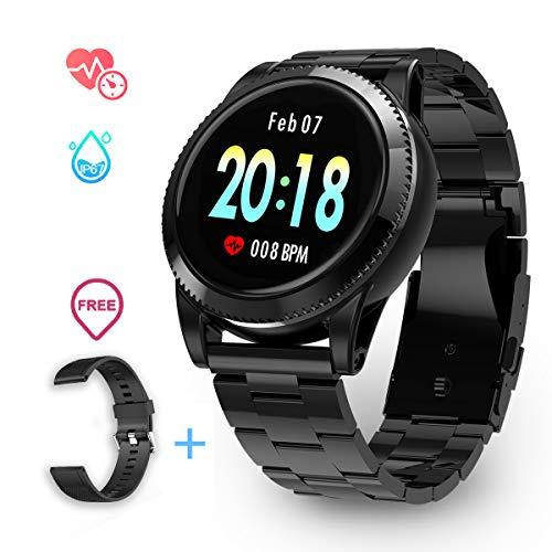 Smartwatch Impermeabile Uomo IP67, GOKOO Smartwatch Sportivo Uomo Orologio Sportivo...