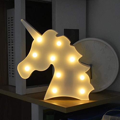 LED Luci Notturne a Unicorn, Cute LED Mood Light Lampade da Tavolo Comodino a Bianco Caldo Lampada...