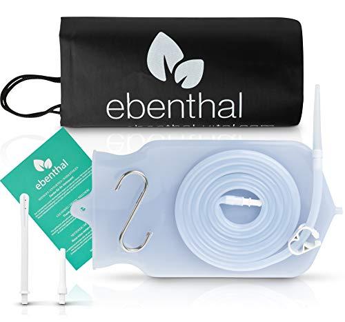 EBENTHAL VITAL ® Premium Darmeinlauf Beutel Silikon Darmreinigung 2L • Irrigator zur Darmspülung • Klistier Set • Darmeinlaufset • extra langer 2M Schlauch • Inkl. Anleitung • BPA-frei