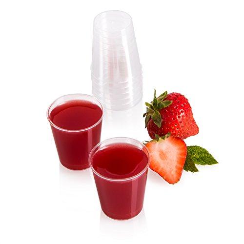 Vivaloo Bicchierini da Shot 3cl, 1 Oncia | per Chupito Shottini Cicchetto Liquore | in Plastica Trasparente e Rigida | Riutilizzabili | Bicchieri da Grappa e Amaro | per caffè, Dessert tè | Vari Sets