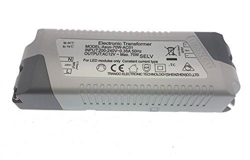 Trango TGG4E-012,faretto LED da incasso, effetto acciaio inox, 12Volt, AC/DC, sostituisce...