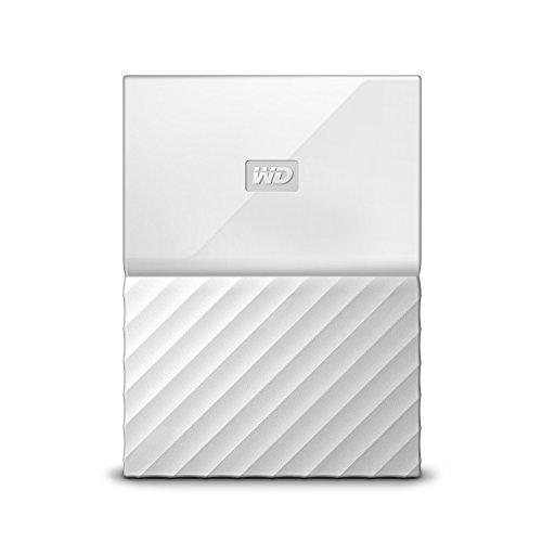 WD 2TB My Passport Hard Disk Esterno Portatile, USB 3.0, Bianco - WDBYFT0020BWT-WESN