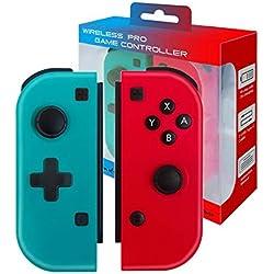 JFUNE Set De Dos Mandos Joy-Con para Nintendo Switch, Inalámbrico Switch Joycon Mando Wireless Switch Joycon Pair (R/L)