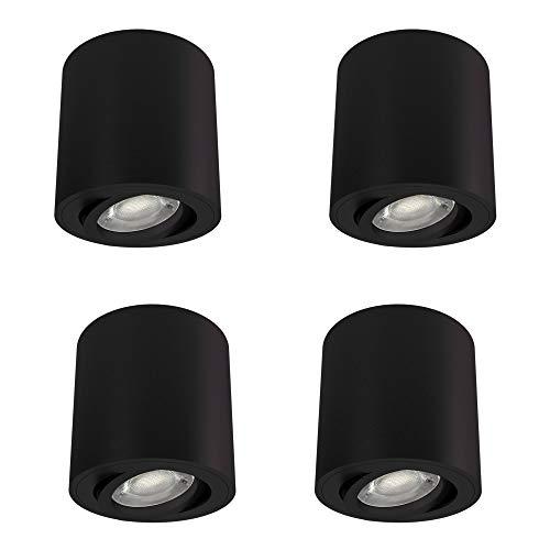 Faretto da incasso Cori bianco, nero, bianco, argento, nero spazzolato senza lampadina moderno nero opaco