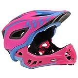 Kiddimoto Unisex-Youth KMHFF01S Full Face Cycle Helmet, Pink, S (48-53cm)