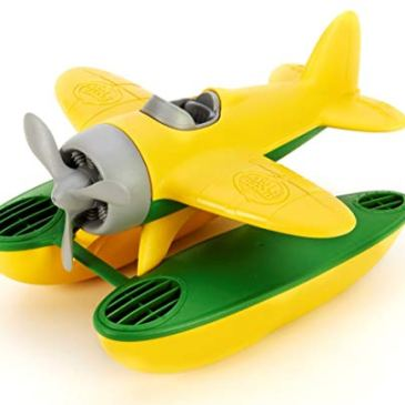 Green Toys – 66061 – Véhicule Miniature – Modèle Simple – Seaplane – Jaune