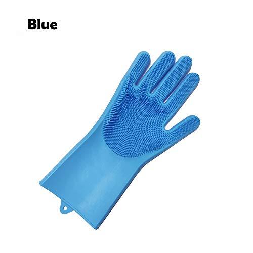 Guanti da cucina in silicone Guanti di lavaggio in gomma per piatti Lavare i guanti di pulizia con...