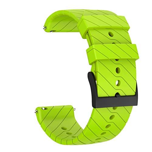 JSxhisxnuid - Cinturino di Ricambio per Suunto 9/9 Baro Copper, Sport in Silicone, per Suunto 9/9 Baro Copper, Verde