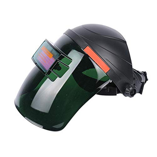 MOGOI Professional Welder Mask, Solar Powered Welding Helmet Auto Darkening Hood with Wide Lens Adjustable Shade Range 4/9-13 for Arc Tig Mig Plasma, Black