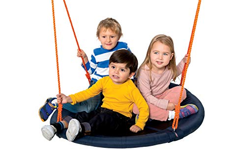 A definite buy for two children, this swing set is easy to build and has a durable metal frame.