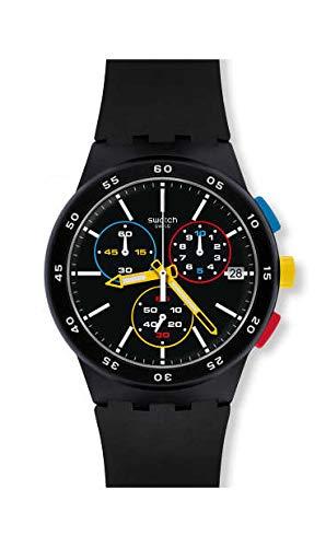 Swatch Orologio Cronógrafo Quarzo Uomo con Cinturino in Silicone SUSB416