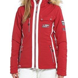 Ultrasport Veste de ski fonctionnelle pour femme – Blouson en softshell pour femme technologie Ultraflow 8000 imperméable – Veste de snowboard femme chaude