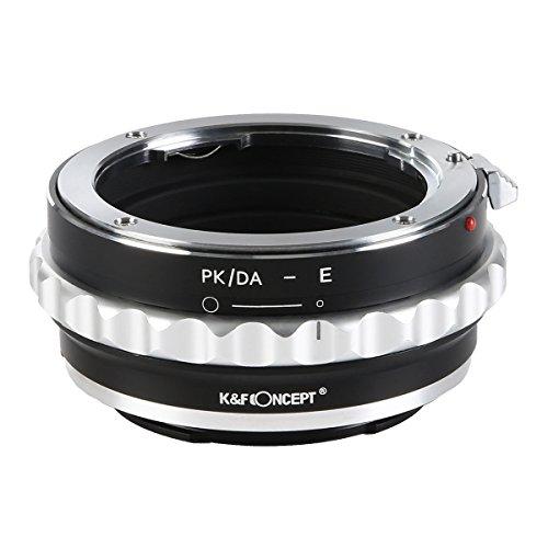 K&F Concept PK/DA-NEX Objektiv Adapter Adapterring Objektivadapter für Pentax K/M/A/FA/DA Mount Objektiv auf Sony NEX E-Mount Kamera