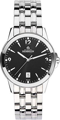Michel Herbelin Unisex Erwachsene Analog Uhr mit Edelstahl Armband 12250/B14