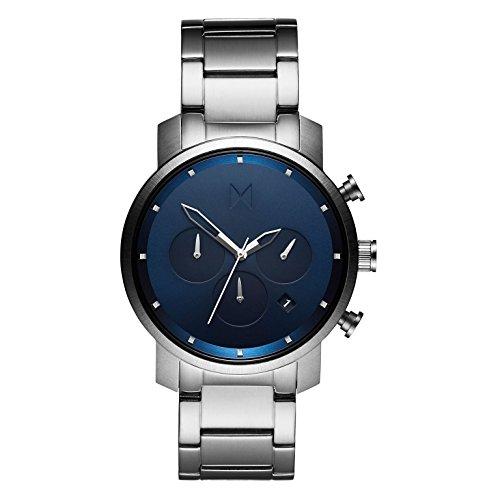 MVMT Herren Chronograph Quarz Uhr mit Edelstahl Armband D-MC02-SBLU