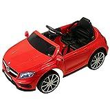 HOMCOM Mercedes Benz AMG Lizenz Kinder Elektroauto Kinderfahrzeug mit 1 x 6 V Motor Fernbedienung MP3 Licht Rot 100 x 58 x 46 cm