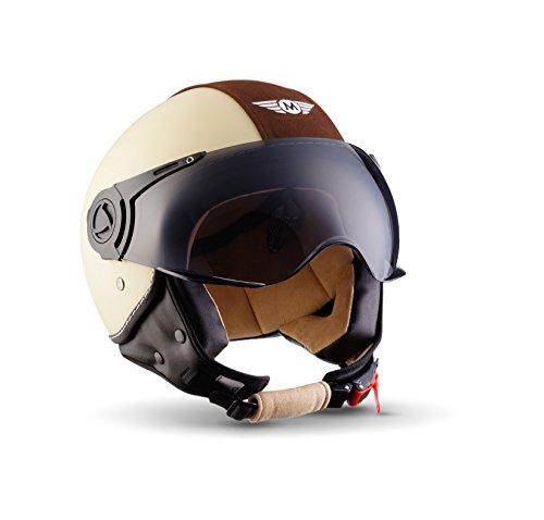 Cascos de moto baratos MOTO HELMETS H44 Beige/Marrón