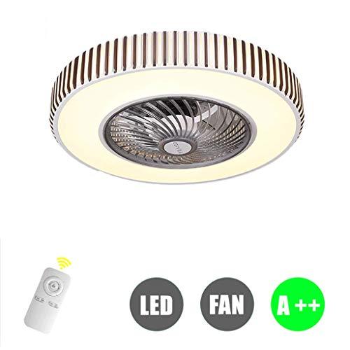 HYKISS Bluetooth App Fan Licht Deckenventilator Licht Restaurant Wohnzimmer Unsichtbare Stummschaltung Nach Hause Mit Elektrischem Ventilator LED Schlafzimmer Licht Einfache Deckenleuchte,B