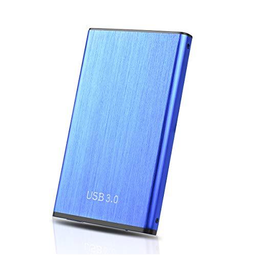 Hunty Hard Disk 2TB Esterno, USB3.0 Hard Disk Esterno per PC, Mac, MacBook, Xbox One(2TB, Blu-AA)