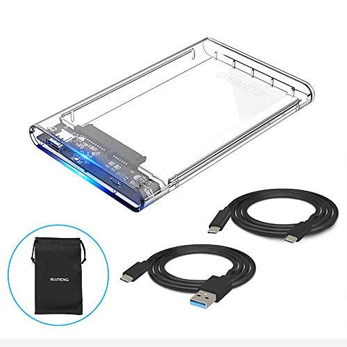 ELUTENG Hard Disk Box Esterno per 9.5mm & 7mm 2.5' SATA HDD and SSD, USB Type C 3.1(Gen...