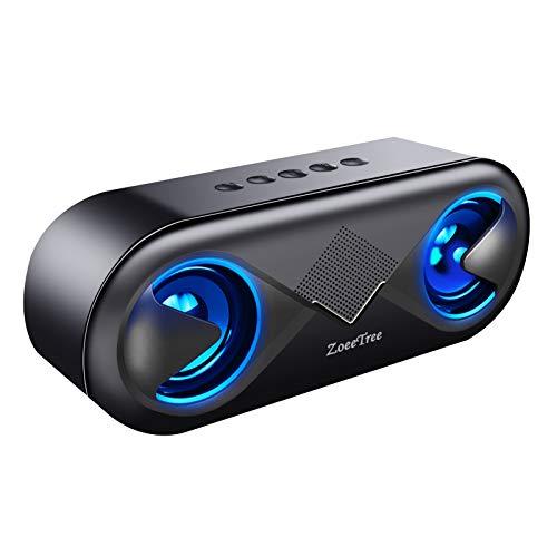 ZoeeTree S8 Altoparlante Bluetooth, Stereo Cassa Portatile Speaker Tempo di Riproduzione di 12...