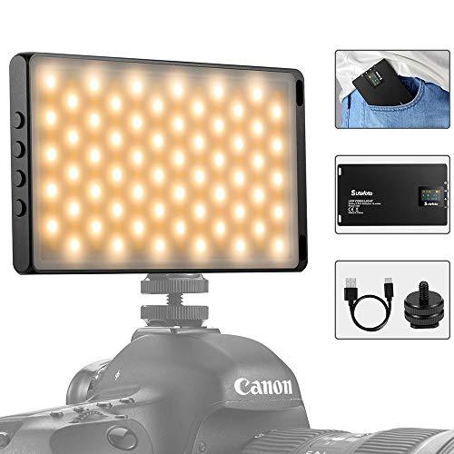 Video Luce LED Mini Portatile Luci Led Per Riprese Video Faretto Led Fotografia Ricaricabile Lampada...