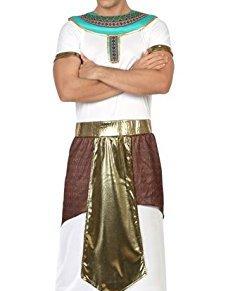 Atosa - Disfraz de hombre faraón egipcio, color blanco, M-L (26588)
