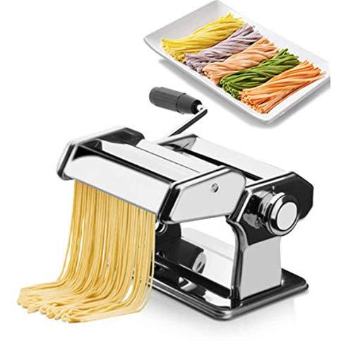 DiaoZhaTian Macchina per Pasta Manuale in Acciaio Inossidabile, Regolazione dello Spessore...