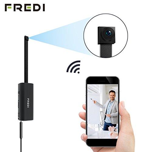 FREDI Microcamera spia HD 720P con rete Wireless micro ip camera Wi-Fi Telecamera nascosta cam modulare P2P fai da te senza fili con sensore di movimento - Videocamera DV Digital Video Recorder