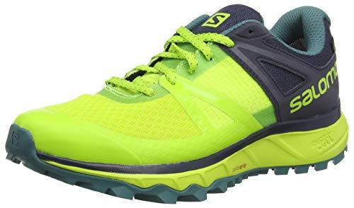 Salomon Trailster GTX, Calzado de Trail Running, Impermeable para Hombre, Verde (Acid Lime/Graphite/Hydro), 43 1/3 EU
