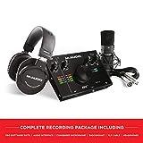 M-Audio AIR 192|4 Vocal Studio Pro - Paquete de grabación completo: Interfaz de audio USB 24/192, micrófono de condensador, soporte amortiguado, cable XLR, auriculares y paquete software profesional