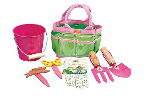 Tierra Garden 7-LP380 per piccoli pollici verdi bambini Junior kit da giardino con paletta, forcone,...