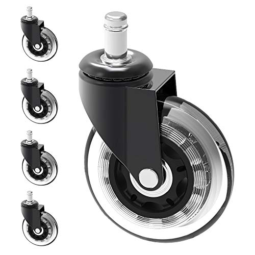Herrman 10 mm Stelo Chair Caster Wheel Replacement Proteggere Pavimenti in Legno Duro per Ikea...