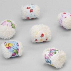 katzeninfo24.de Plüschball Sheep Flower bunter Katzenball
