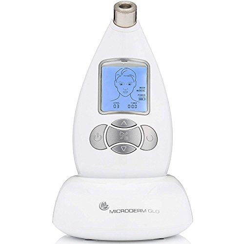 Microderm GLO Diamond Microdermabrasion System by Nuvéderm - #1 Advanced Home Facial Treatment Machine, Clinical Dermabrasion Anti-Aging Care, Perfect Blackhead Remover & Exfoliating Skincare Solution