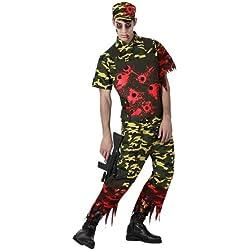 Atosa 14904 Disfraz militar sangriento adulto M-L, talla hombre